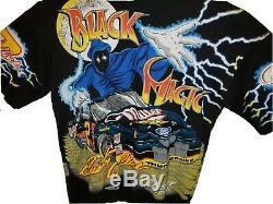 Vintage NASCAR #2 Rusty Wallace Black Magic All Over T-Shirt DEADSTOCK Men's L