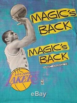 Vintage NEW Magic Johnson MAGIC'S BACK L. A. LAKERS T-Shirt. XL