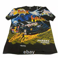 Vintage Nascar Black Magic Rusty Wallace All Over Print T Shirt- Adult Large