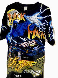 Vintage Nascar Black Magic Rusty Wallace All Over Print T Shirt- Adult Medium