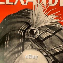 Vintage Original Magic Poster Alexander The Man Who Knows 1920