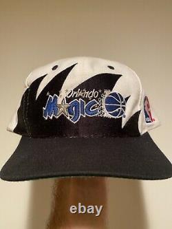 Vintage Orlando Magic Logo Athletic Sharktooth Snapback NBA Hat First Gen