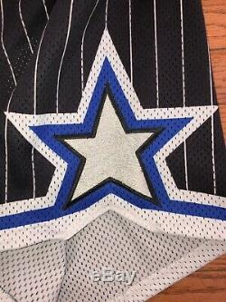 Vintage Orlando Magic NBA Authentic Shorts Champion Size 38 Rare Pinstripe 90s