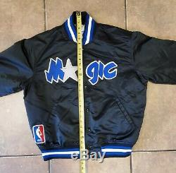 Vintage Orlando Magic Starter Satin NBA Jacket! Mens Size LARGE! Shaq Penny