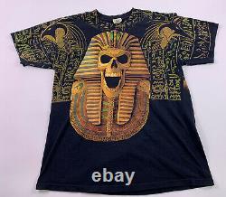 Vintage Pharaoh shirt All Over Print Magic Gathering Liquid Blue Large Skull