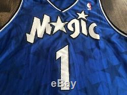 Vintage REEBOK Authentic TRACY MCGRADY #1 Orlando Magic STARS Jersey 48 XL