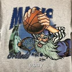 Vintage Salem Sportswear Orlando Magic Crewneck Sweatshirt Mens Size L Rare VTG