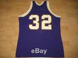 Vintage Sand-knit Los Angles Lakers Magic Johnson Basketball Jersey #32 Men XL