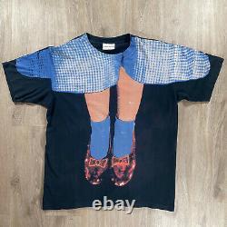 Vintage Stanley Desantis The Wizard of Oz T-Shirt 1993 Movie Size Large Black