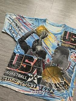 Vintage USA Basketball T Shirt 1992 Dream Team Gold Rush Magic Johnson Jordan XL