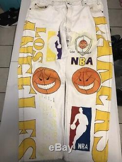 Vintage Vtg Magic Johnson Ts Los Angeles Lakers All Over Print Size XXL Bryant