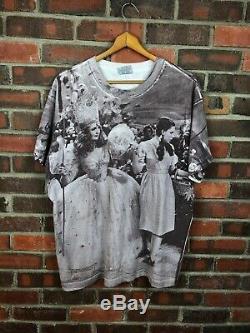 Vintage Wizard Of Oz Shirt Mens Xl Stanley Desantis All Over Print 1992 Aop Vtg