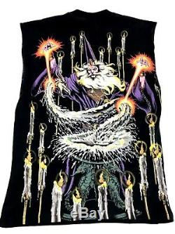 Vintage Wizard shirt All Over Print Magic the Gathering Boho Punk Liquid Blue XL