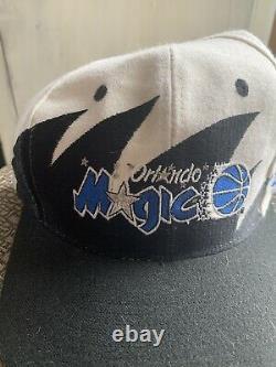 Vintage rare Orlando Magic 90s Logo Athletic Shark Tooth Snap Back Hat Retro