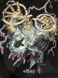 Vintage vtg. American thunder usa thunder mens t shirt sz xl wizard HOODED Rare
