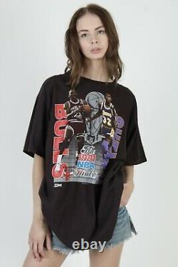Vtg 1991 Chicago Bulls NBA Finals Michael Jordan Magic Johnson Salem T Shirt XL