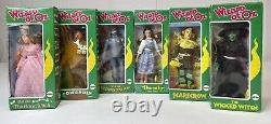 Vtg Mego Set 6 Wizard Oz Doll Dorothy Witch Scarecrow Tin Man Lion Glinda New