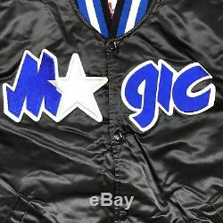 Vtg Rare NBA Orlando Magic Stater Satin Jacket. Mens Large
