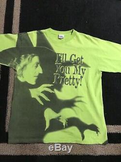 WIZARD OF OZ VTG Shirt 1993 all over promo movie witch large supreme horror