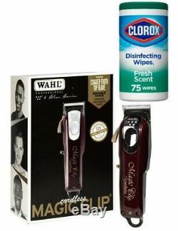 Wahl Professional 5-Star Series Cordless Magic Clip Hair Clipper + CIorox 75ct