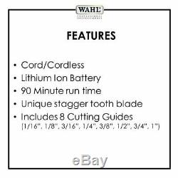 Wahl Professional 5-Star Series Magic Clip Cordless Hair Clipper with 8 Guides
