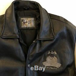 Walt Disney World 100 Years Of Magic Leather Jacket Sz Large Mens Mickey Mouse