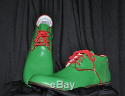 ZYKO Professional Real Leather Clown Shoes Chaplin Green model (ZH029)