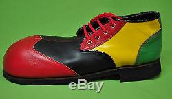 ZYKO Professional Real Leather Clown Shoes Long Multicolor (ZH0011)