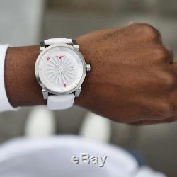 Zinvo Magic Turbine Automatic Steel Grey White Sapphire Leather Men's Watch